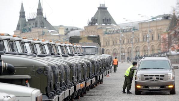 أرشيفية لمركبات عسكرية روسية في موسكو